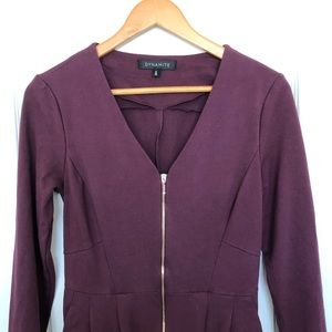 Purple Dynamite Zip Up Dress